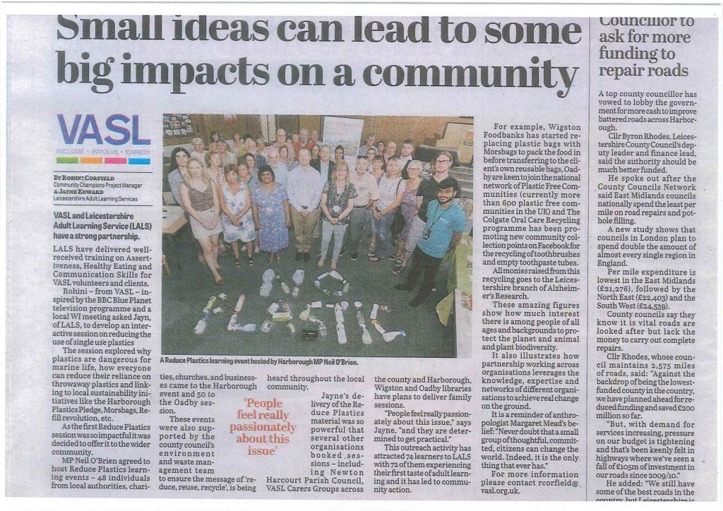 Harborough News - VASL Community Impact